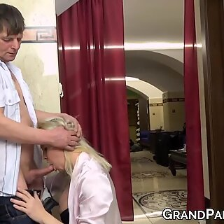 Daddy fucking stepdaughter then mom watching