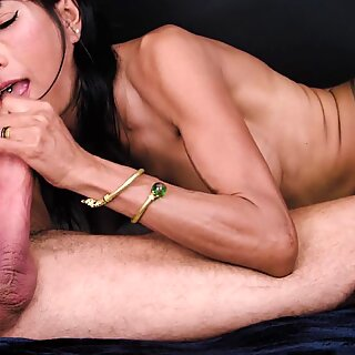 Ravena Rey Sucks Sweetly on a Throbbing Cock for a Delicious Oral Creampie