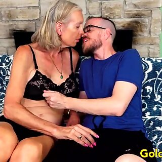 Tall Granny Super Sexy Has Her Asshole Reamed