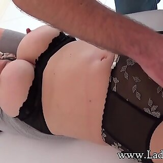 British mature Lady Sonia tied up and teased