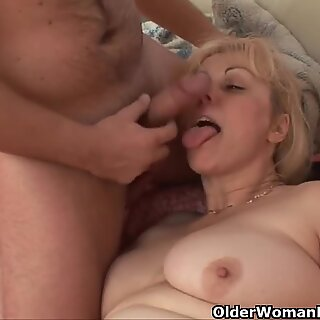Chubby grandmother gets cock up her ass