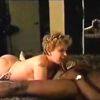 Bright girlfriend fucks two dark men for enjoyment that is