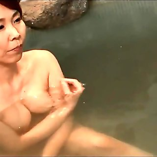 Two hot japanese wives at the onsen.