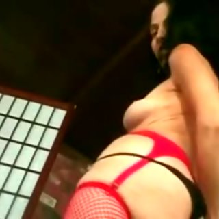 Mature in Red Fishnets Fucks