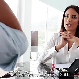 PureMature Brunette professional MILF Anissa Kate enjoys dick in her ass