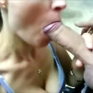 Milf Makes Love to His Cock with her Mouth