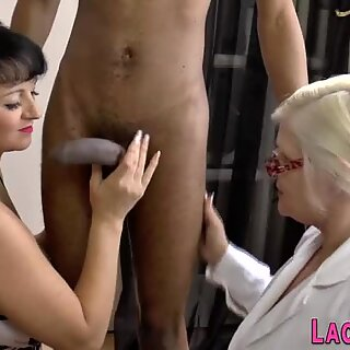 Granny takes fat cock in her pussy