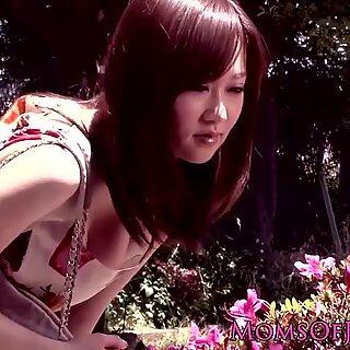 Bigtitted japanese MILF being interracially ravaged