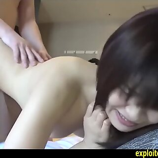 Jav Amateur Hikari Tight Ass Shaved Pussy Fucked Hard Doggy