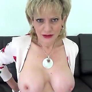 Unfaithful english milf lady sonia showcases her big hooters