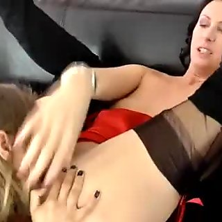 Mature stocking milfs lesbian fingering