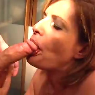 Hot mature French slut fucked by a younger cock