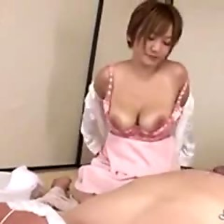 Dirty patient enjoys Meguru Kosaka sponge bath