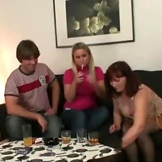 Wife watching him fucking her mom