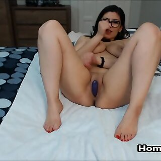 Wish This Hard Toy Inside Me Was Your Cock