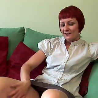Sexy British redhead playing with herself
