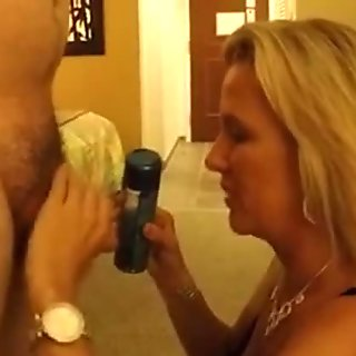 My wifes face dripping with cum