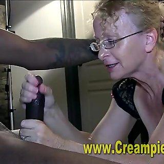 Sloppy Interracial Creampie
