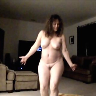 Horny Mature Jiggles BIG Tits and Ass and Sucks Cock