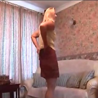 Check my granny MILF in stockings slowly stripping out