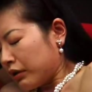 Mature japanese masturbated with dildo