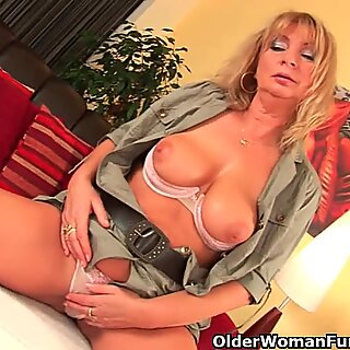 ultra-kinky grandma gets her snatch fisted by dude half her age