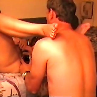 Fat mature woman has oral, doggystyle and missionary sex.