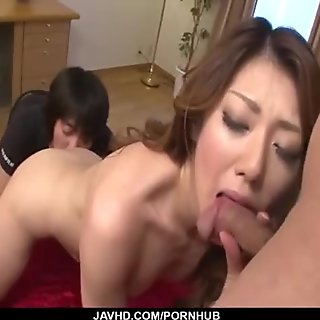 Time for rough threesome sex with needy Reina Nishio