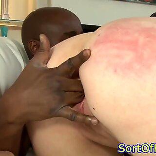 Closeup spunk-pumpsucking amateur luvs ebony cocks