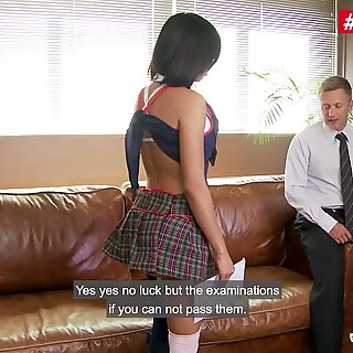 PornoAcademie - Canela Skin Big Booty Colombian Schoolgirl Gets Her Tight Pussy Fucked By Principal - LETSDOEIT