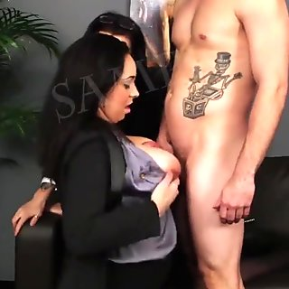 Busty mature loves office sex
