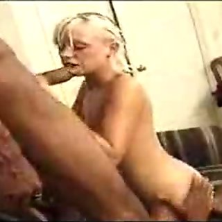 Mature blonde chick fucked by 2 black dicks - free porn video