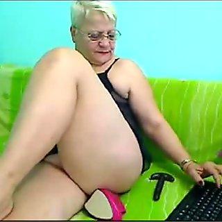 54yr old Mature Teacher Stiletto Heel Anal Play on Cam