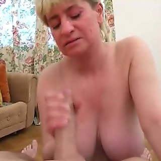 Big boobs mature and fat cock