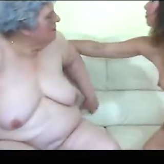 Young Lesbian and old Lesbian Granny