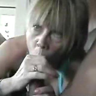 gramma blowing on a ebon meat