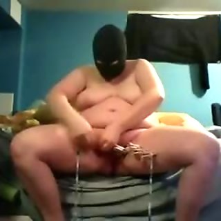 Unbelievably freaky mature wife in mask and her sex toys