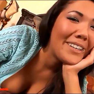 HD cute asian teen stepsister babysitter gets long stiff milky stiffy