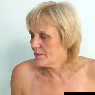 Mature old Brigita getting pussy exam