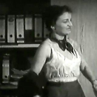 3 Mature Ladies get Naked in Office (1940s Vintage)
