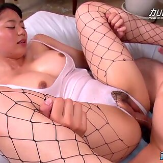 cum inside asian busty wearing fishnet stocking