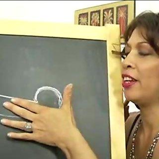 mother teaching daughter 239