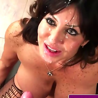 Cocksucking mature doc spunked on face