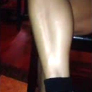 Voyeur sexy mature legs and upskirt