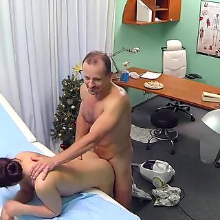 Busty granny pussyfucked in many poses