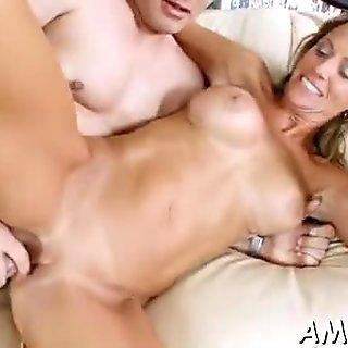 Fuckable mature feels astounding on top of her sex partner