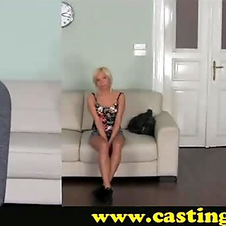 Casting - Mesmerising blonde and anal play