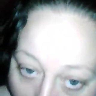 White Las Vegas BBW MILF  sucking my young latino cock