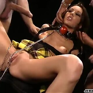 Taylor Rain gets fucked her ass and loves it, also gets involved with group sex