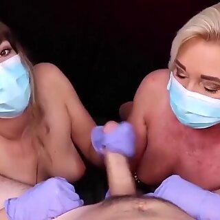 Two Sexi Milf Giving Me a Coronavirus Handjob